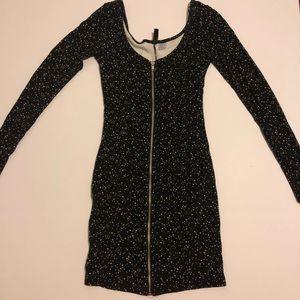 H&M black dress with stars